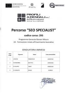 Graduatoria corso SEO Specialist